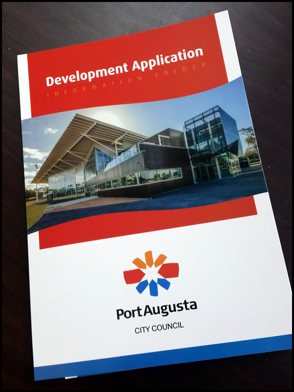 Port Augusta City Council Development Application Information Folder - Front Cover
