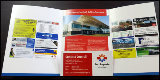 Port Augusta City Council Development Application Information Folder - Inside Spread